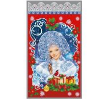 Пакет п/п мет. «Снегурочка и подарки»
