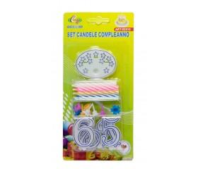 Набор свечей для торта  с цифрами