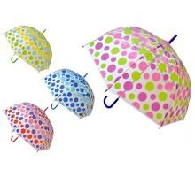 """Зонт-трость полуавтомат """"Диско"""" полупрозрачный"""