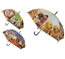 """Зонт-трость полуавтомат """"Собаки"""""""