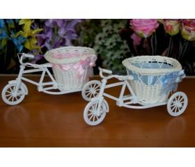 Корзинка декоративная «Велосипед» 23х11х12см