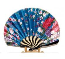 Веер атласный в японском стиле