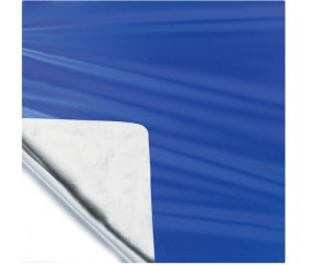 Пленка в рулоне Полисилк 1м*20м синий/серебро Италия