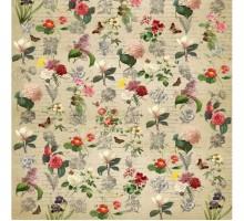 Бумага 100*70 Дизайнерский  «Цветы ретро»