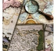 Бумага 100*70 Дизайнерская бумага «Карты» 78г/м2