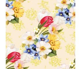 Бумага 100*70 Дизайнерская бумага «Весенний привет»