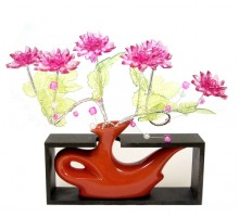 Композиция в вазе «Пламя любви»