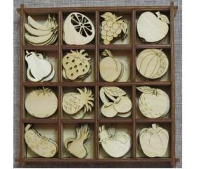 Набор для творчества, скрапбукинга и декупажа «Овощи,фрукты»