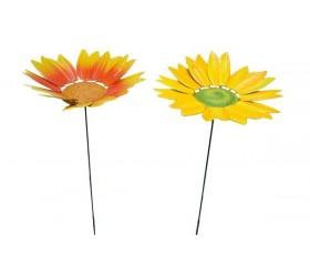 Украшение садовое «Подсолнух» на штекере