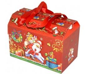 "Коробка-трансформер красная ""Дед Мороз"""