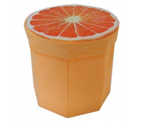 Пуфик/ёмкость для хранения 8-угольный «Апельсин» 30х30см