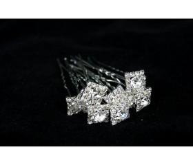 "Шпилька ""Винтаж"" с кристаллами"