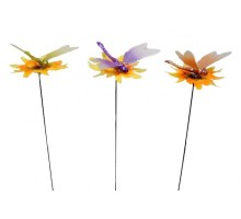 Украшение садовое «Стрекоза» на штекере