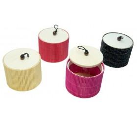 Шкатулочка бамбуковая круглая