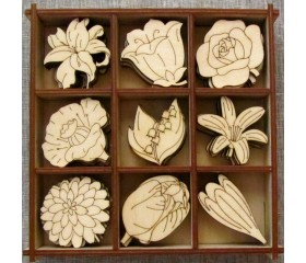 Набор для творчества, скрапбукинга и декупажа «Цветы»