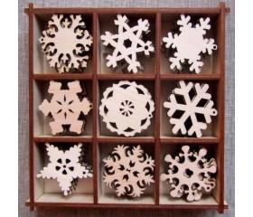 Наборы для творчества, скрапбукинга и декупажа «Снежинки»