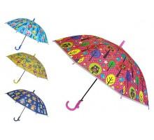 Зонтик детский полуавтомат со свистком «Совята» D=85 см