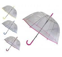 Зонт-трость полуавтомат «Сердечки»  D=85 см