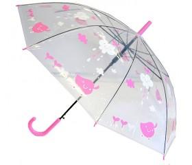Зонт-трость полуавтомат прозрачный «Тучка» D=91 см