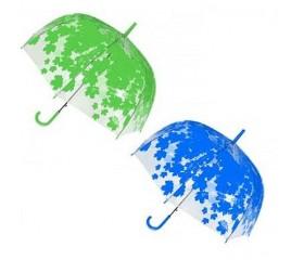 Зонт-трость полуавтомат прозрачный «Листопад» D купола 87 см