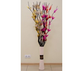 Цветы тюлевые «Лилии» с золотыми тычинками