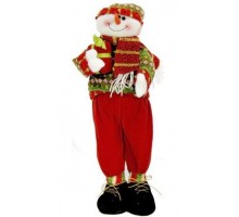 Игрушка Снеговик с подарком 60 см